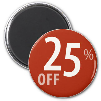 Powerful 25% OFF SALE Sign - Magnets