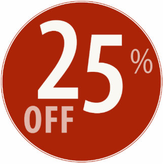 Powerful 25% OFF SALE Sign - Ornament