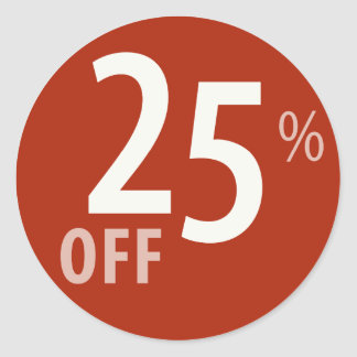 Powerful 25% OFF SALE Sign - Sticker