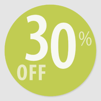 Powerful 30% OFF SALE Sign Classic Round Sticker