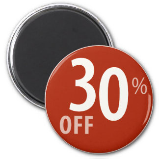 Powerful 30% OFF SALE Sign - Magnets