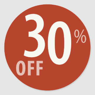 Powerful 30% OFF SALE Sign - Sticker