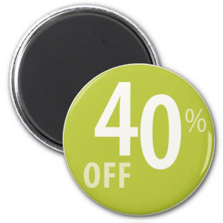 Powerful 40% OFF SALE Sign - Magnets