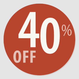 Powerful 40% OFF SALE Sign - Sticker