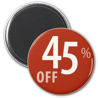 Powerful 45% OFF SALE Sign - Magnets