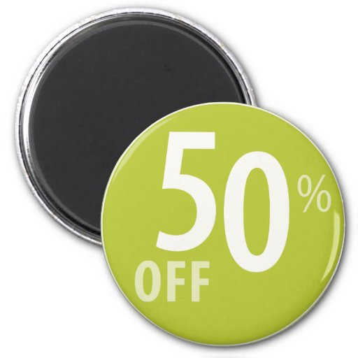 Powerful 50% OFF SALE Sign - Magnets
