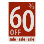 Powerful 60% OFF SALE Sign - retail sales poster