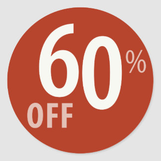 Powerful 60% OFF SALE Sign - Sticker