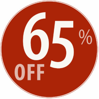Powerful 65% OFF SALE Sign - Ornament