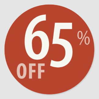 Powerful 65% OFF SALE Sign - Sticker