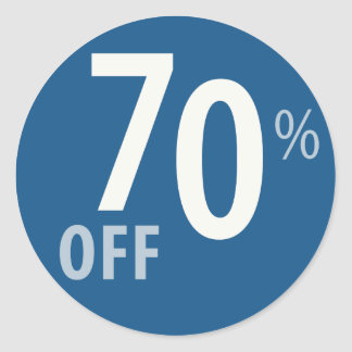 Powerful 70% OFF SALE Sign Classic Round Sticker