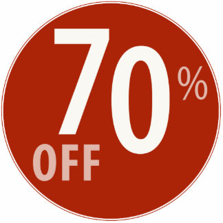 Powerful 70% OFF SALE Sign - Ornament