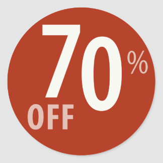 Powerful 70% OFF SALE Sign - Sticker