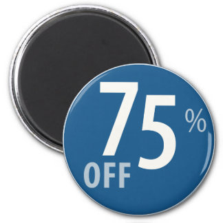 Powerful 75% OFF SALE Sign - Magnets