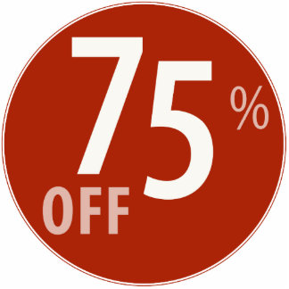 Powerful 75% OFF SALE Sign - Ornament