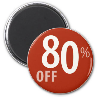 Powerful 80% OFF SALE Sign - Magnets