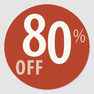 Powerful 80% OFF SALE Sign - Sticker