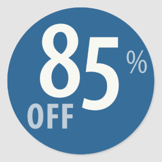 Powerful 85% OFF SALE Sign Classic Round Sticker