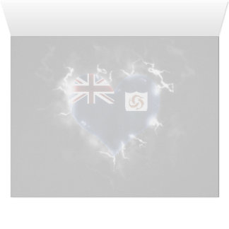 Powerful Anguilla Large Greeting Card