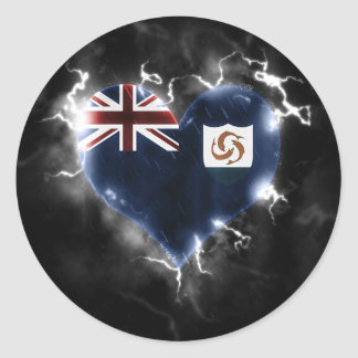 Powerful Anguilla Classic Round Sticker