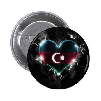 Powerful Azerbaijan 2 Inch Round Button