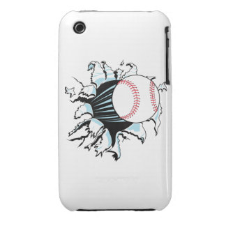 powerful baseball ripping through iPhone 3 Case-Mate case