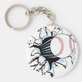 powerful baseball ripping through keychains