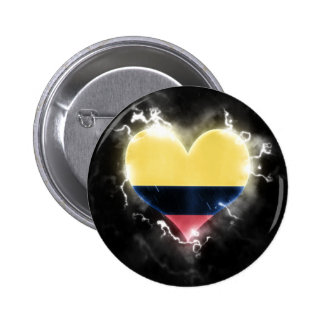 Powerful Colombia 2 Inch Round Button