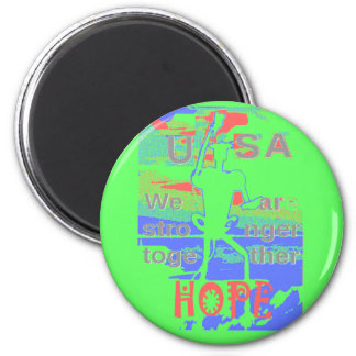 Powerful ECO USA Hillary Hope We Are Stronger Toge 2 Inch Round Magnet