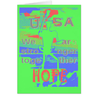 Powerful ECO USA Hillary Hope We Are Stronger Toge Card