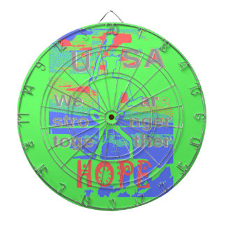 Powerful ECO USA Hillary Hope We Are Stronger Toge Dartboard With Darts