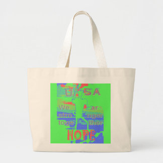 Powerful ECO USA Hillary Hope We Are Stronger Toge Large Tote Bag