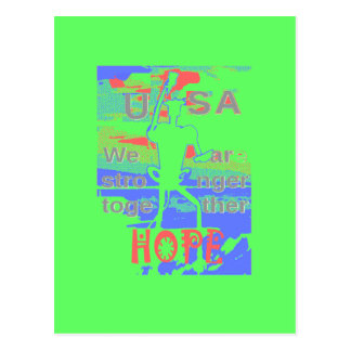 Powerful ECO USA Hillary Hope We Are Stronger Toge Postcard