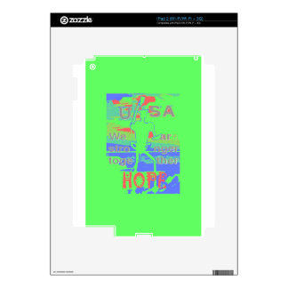 Powerful ECO USA Hillary Hope We Are Stronger Toge Skins For iPad 2