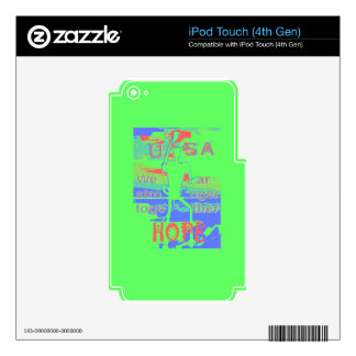 Powerful ECO USA Hillary Hope We Are Stronger Toge Skins For iPod Touch 4G