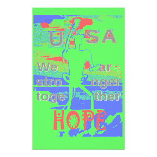 Powerful ECO USA Hillary Hope We Are Stronger Toge Stationery