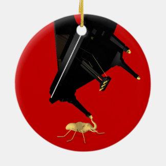 Powerful Eleph-Ant Ceramic Ornament