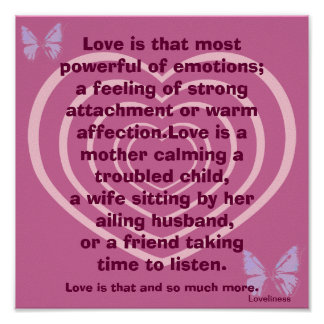 Powerful Emotion Of Love Poster-Customize