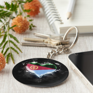 Powerful Eritrea Basic Round Button Keychain