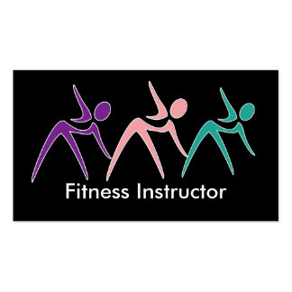 Powerful Fitness Instructor Business Cards