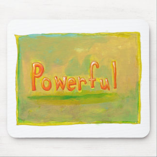 Powerful fun word painting art motivational mousepad
