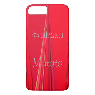 Powerful Hakuna Matata lovely Royal unique red iPhone 7 Plus Case