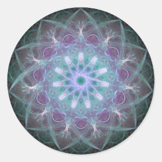 Powerful High Blue Energy Mandala Classic Round Sticker