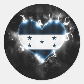 Powerful Honduras Classic Round Sticker