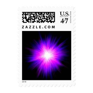 Powerful Indigo deep purple divine healing flame Postage Stamp
