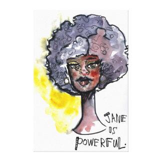 Powerful Jane Canvas Print