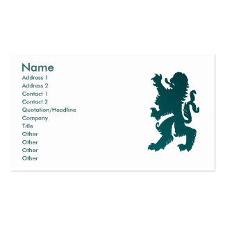Powerful Lion Profile Card Business Card Templates