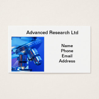 Powerful Microscope for Research and Science Business Card