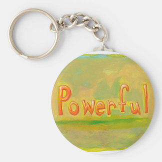 Powerful motivational art fun unique word painting basic round button keychain