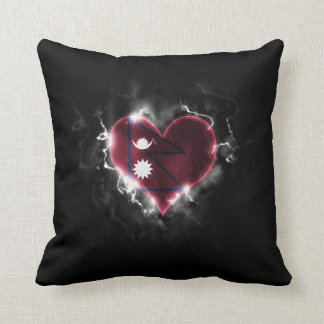 Powerful Nepal Throw Pillow
